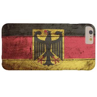 Bandera de Alemania en grano de madera viejo Funda De iPhone 6 Plus Barely There