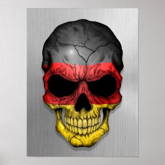 Bandera de Alemania en un gráfico de acero del crá Impresiones