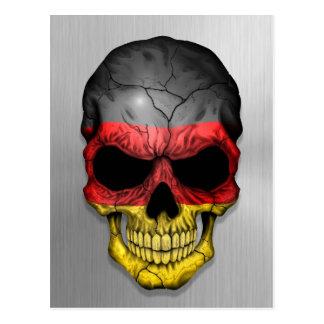 Bandera de Alemania en un gráfico de acero del crá Postales