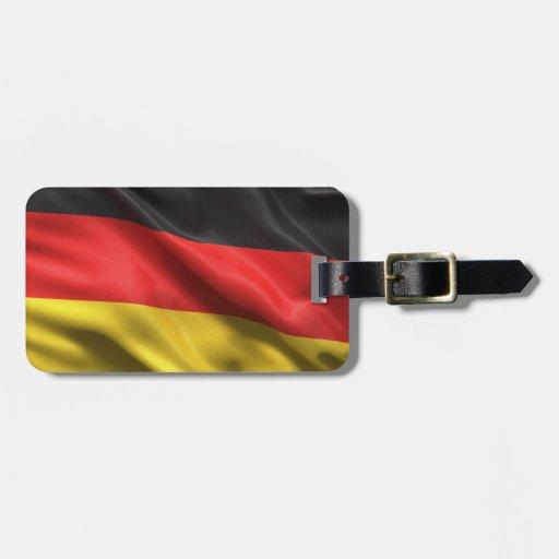 Bandera de Alemania Etiquetas Para Equipaje