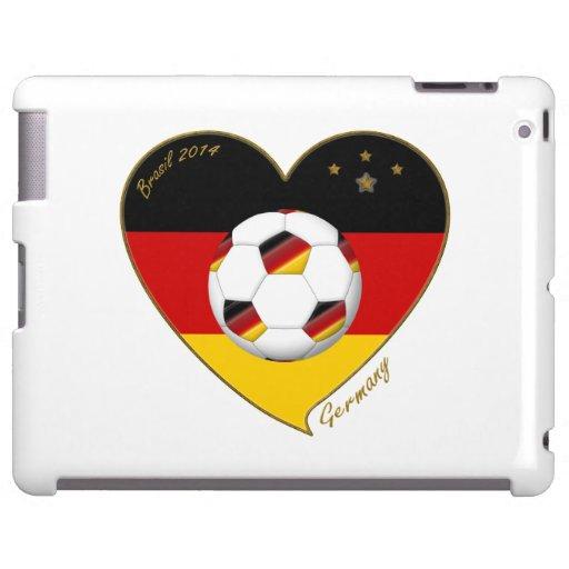 Bandera de ALEMANIA FÚTBOL de equipo nacional 2014 Funda Para iPad