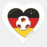 Bandera de ALEMANIA FÚTBOL de equipo nacional 2014 Pegatina En Forma De Corazón