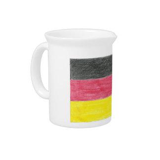 Bandera de Alemania Jarra Para Bebida