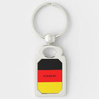 Bandera de Alemania Llavero Plateado Rectangular