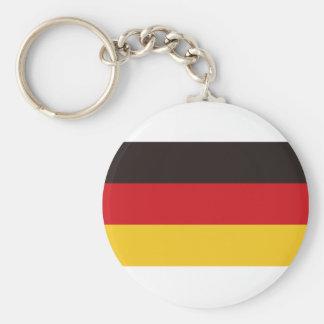 Bandera de Alemania Llavero Redondo Tipo Pin