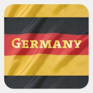 Bandera de Alemania Colcomanias Cuadradas