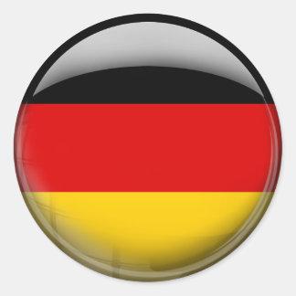 Bandera de Alemania Pegatinas Redondas