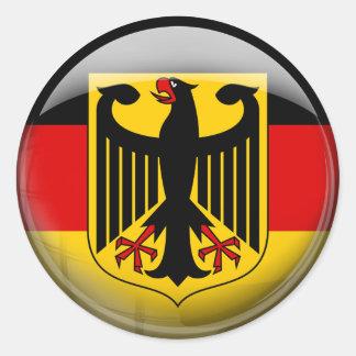 Bandera de Alemania Etiqueta Redonda