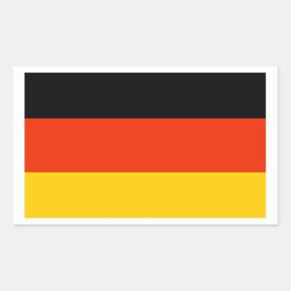 Bandera de Alemania Rectangular Pegatina