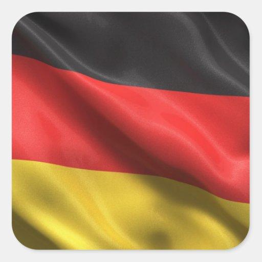 Bandera de Alemania Pegatina Cuadrada