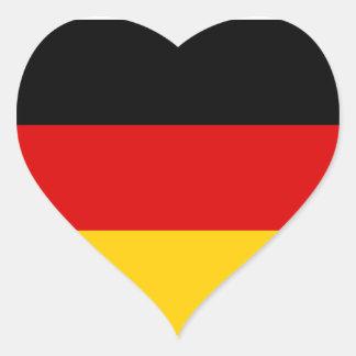 Bandera de Alemania Pegatina En Forma De Corazón