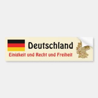 Bandera de Alemania + Pegatina para el parachoques Etiqueta De Parachoque