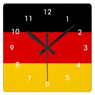 Bandera de Alemania Reloj Cuadrado