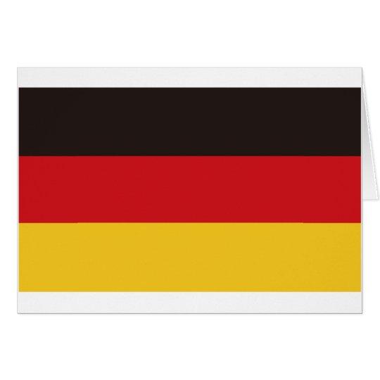 Bandera de Alemania Tarjeta De Felicitación