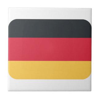 Bandera de Alemania usando emoji del gorjeo Azulejo Cuadrado Pequeño