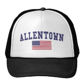 Bandera de Allentown los E.E.U.U. Gorro