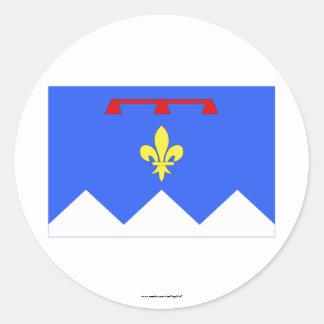 Bandera de Alpes-de-Haute-Provence Pegatina Redonda