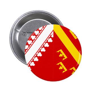 Bandera de Alsacia (vieja), Francia Pin Redondo De 2 Pulgadas