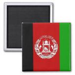 Bandera de alta calidad de Afganistán Imán Cuadrado