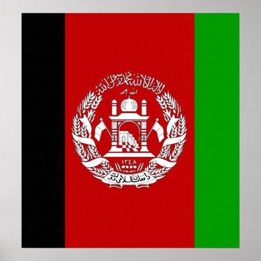 Bandera de alta calidad de Afganistán Póster