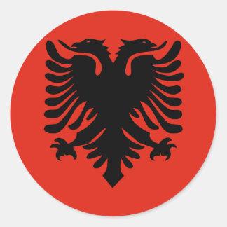 Bandera de alta calidad de Albania Pegatina Redonda
