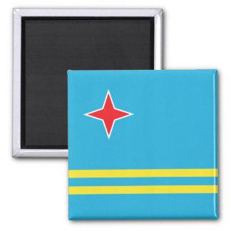 Bandera de alta calidad de Aruba Imán Cuadrado
