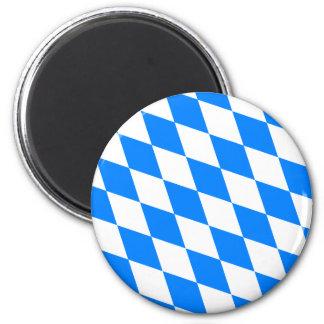 Bandera de alta calidad de Baviera de Alemania Imán Redondo 5 Cm