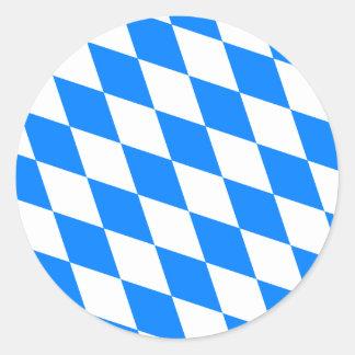 Bandera de alta calidad de Baviera de Alemania Pegatina Redonda