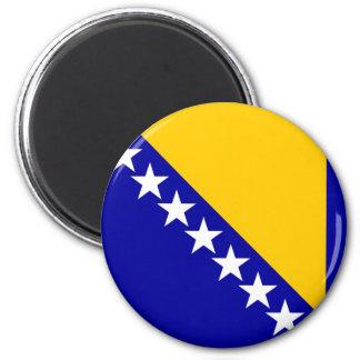 Bandera de alta calidad de Bosnia y Hercegovina Imán Redondo 5 Cm