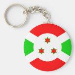 Bandera de alta calidad de Burundi Llavero Redondo Tipo Pin