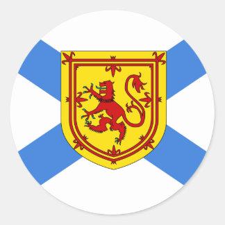 Bandera de alta calidad de Canadá Nueva Escocia Pegatina Redonda