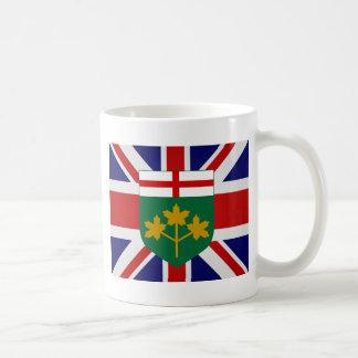 Bandera de alta calidad de Canadá Ontario Taza Básica Blanca