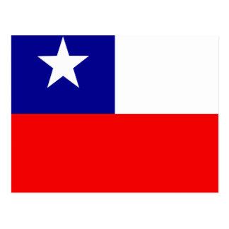 Bandera de alta calidad de Chile Postales
