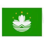 Bandera de alta calidad de China Macao Felicitaciones