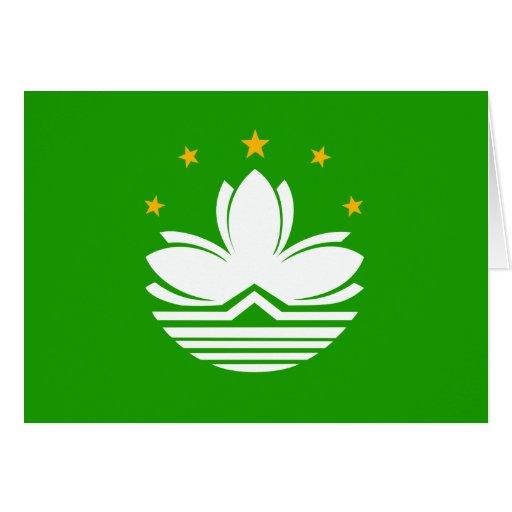 Bandera de alta calidad de China Macao Tarjetón