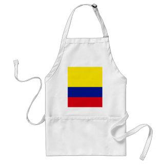 Bandera de alta calidad de Colombia Delantal