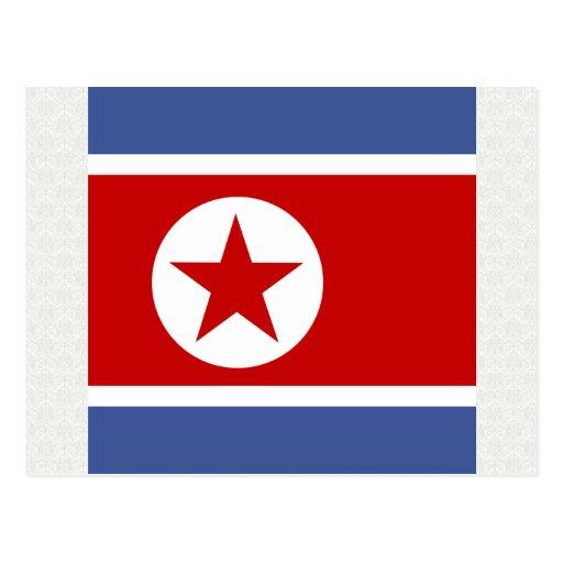 Bandera de alta calidad de Corea del Norte Postales