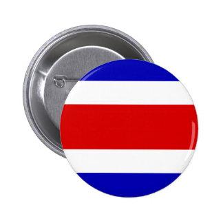 Bandera de alta calidad de Costa Rica Pin Redondo De 2 Pulgadas