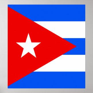 Bandera de alta calidad de Cuba Posters