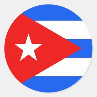 Bandera de alta calidad de Cuba Pegatina Redonda