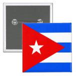 Bandera de alta calidad de Cuba Pin Cuadrada 5 Cm