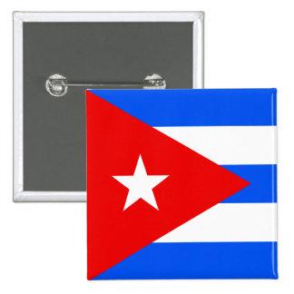 Bandera de alta calidad de Cuba Pin Cuadrado