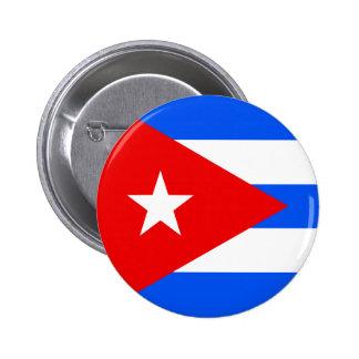 Bandera de alta calidad de Cuba Pin Redondo De 2 Pulgadas