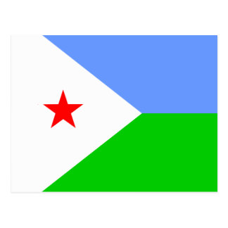Bandera de alta calidad de Djibouti Tarjeta Postal