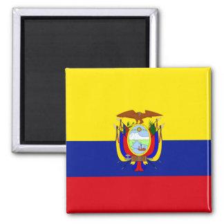 Bandera de alta calidad de Ecuador Imán Cuadrado