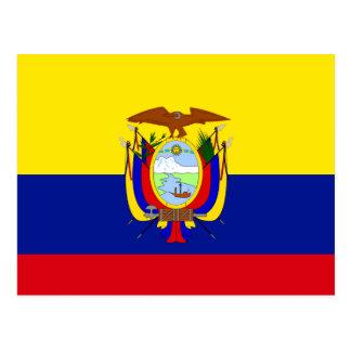 Bandera de alta calidad de Ecuador Tarjeta Postal