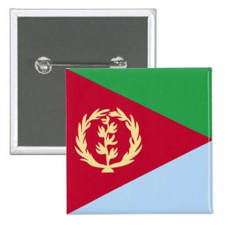 Bandera de alta calidad de Eritrea Pin Cuadrado