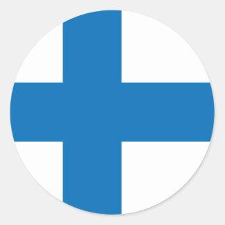 Bandera de alta calidad de Finlandia Pegatina Redonda