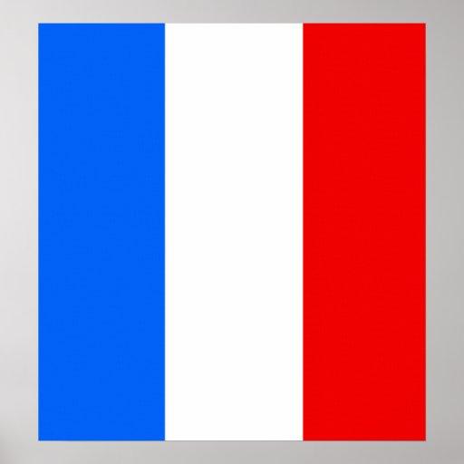 Bandera de alta calidad de Francia Poster