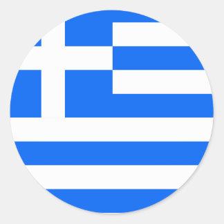 Bandera de alta calidad de Grecia Pegatina Redonda